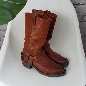 Frye 77250 Belted Motorcycle Boots